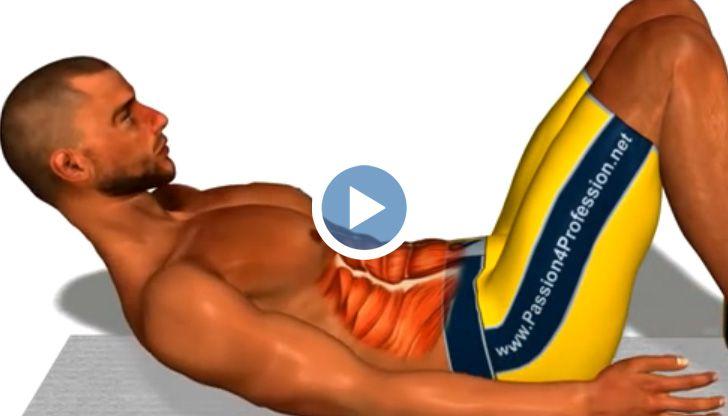 Упражнения за перфектен корем, само за 8 минути на ден