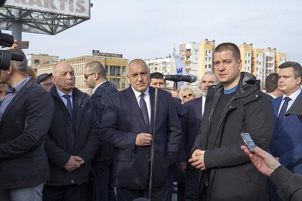 Живко Тодоров и Бойко Борисов откриха реконструирания мост в Стара Загора